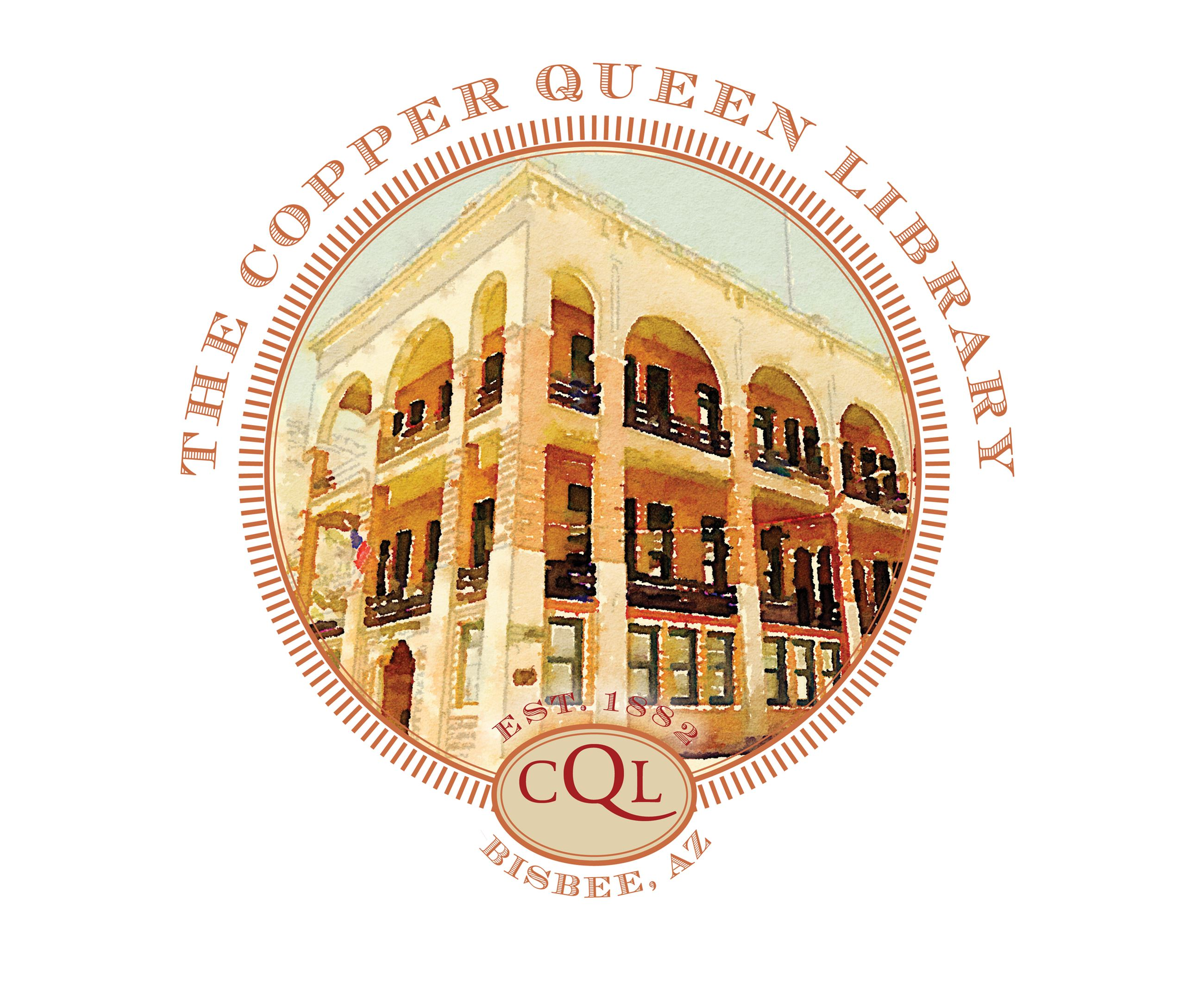 COPPER QUEEN LIBRARY LOGO SEAL FIN SM
