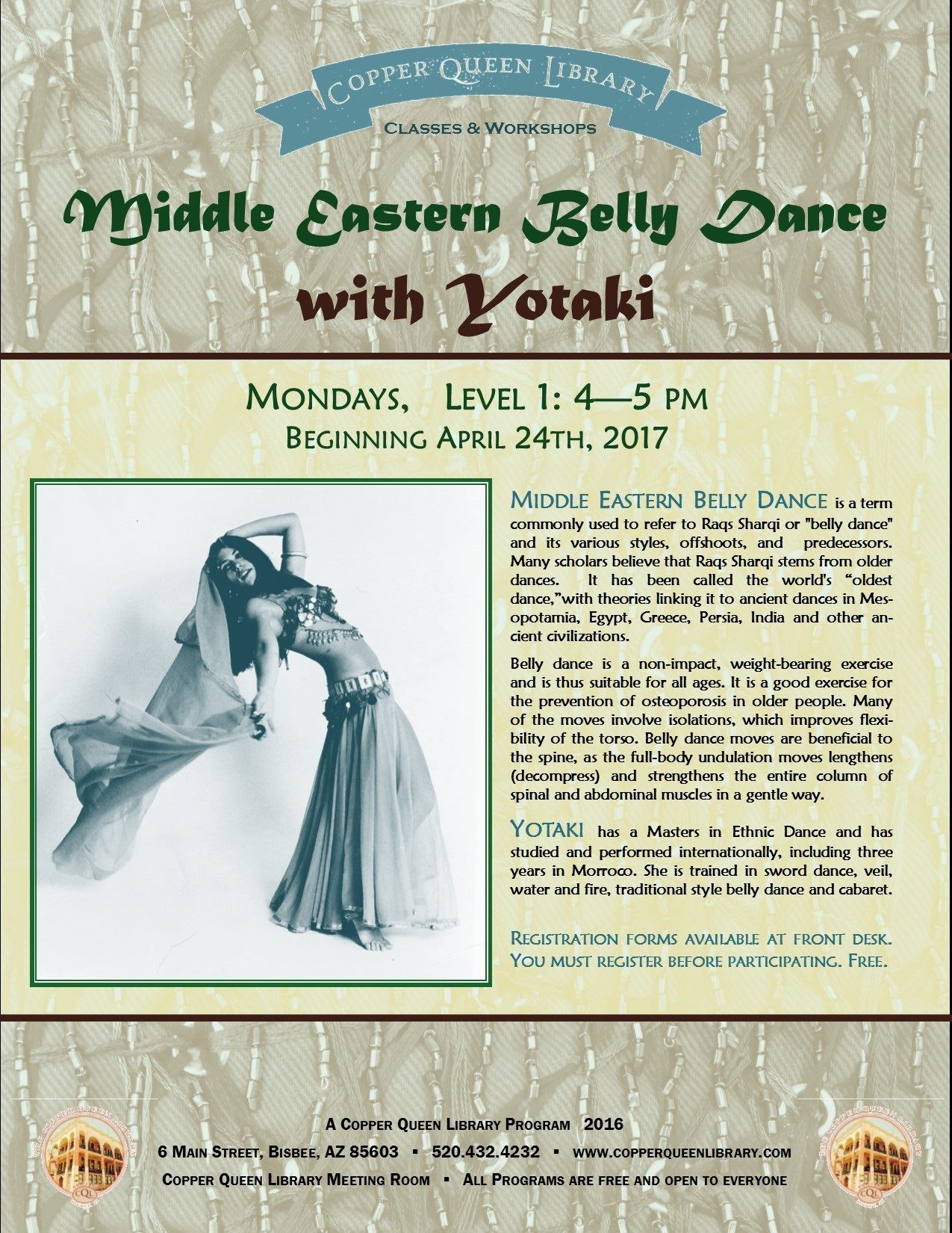 YOTAKI BELLY DANCE POSTER 2017