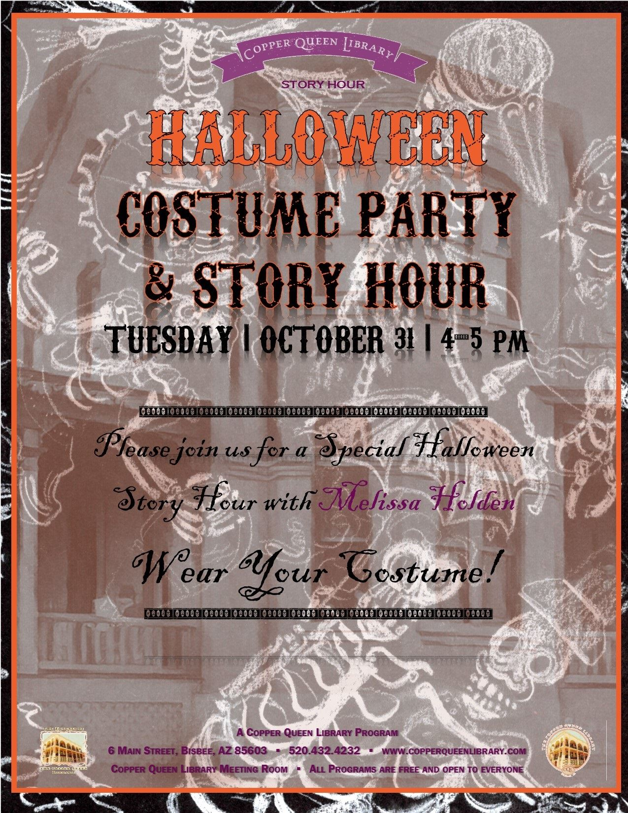 HALLOWEEN SPECIAL STORY HOUR POSTER 10.31.2017 8.5 x 11 3