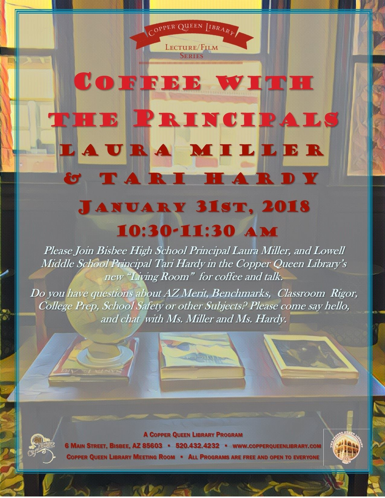 COFFEE WITH PRINCIPAL LAURA MILLER  1.31.18 POSTER 8.5x11