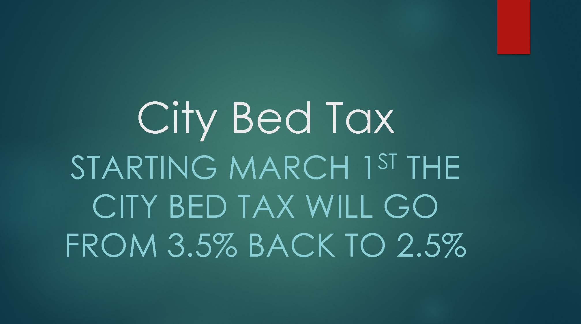 City Bed Tax