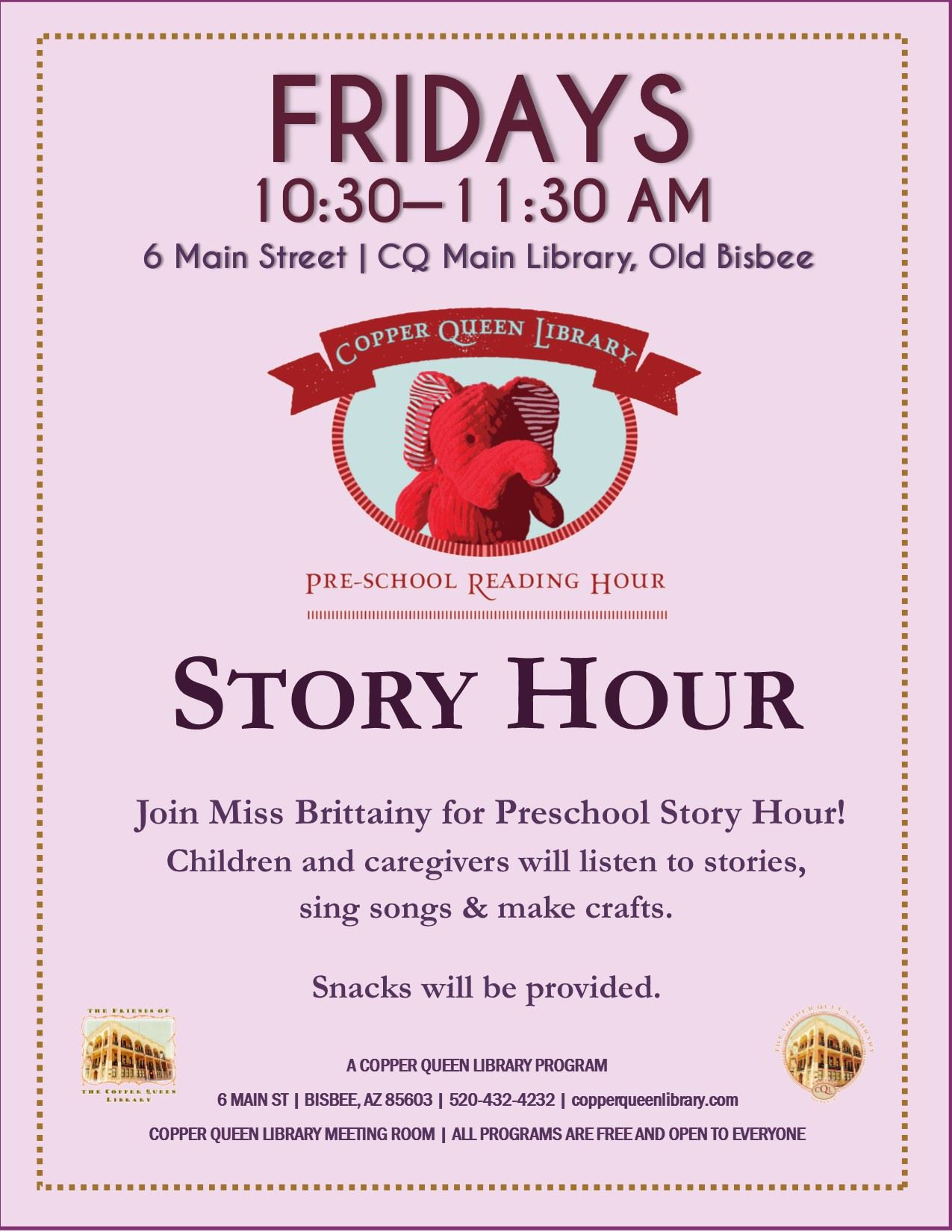 PRE-SCHOOL STORY HOUR POSTER