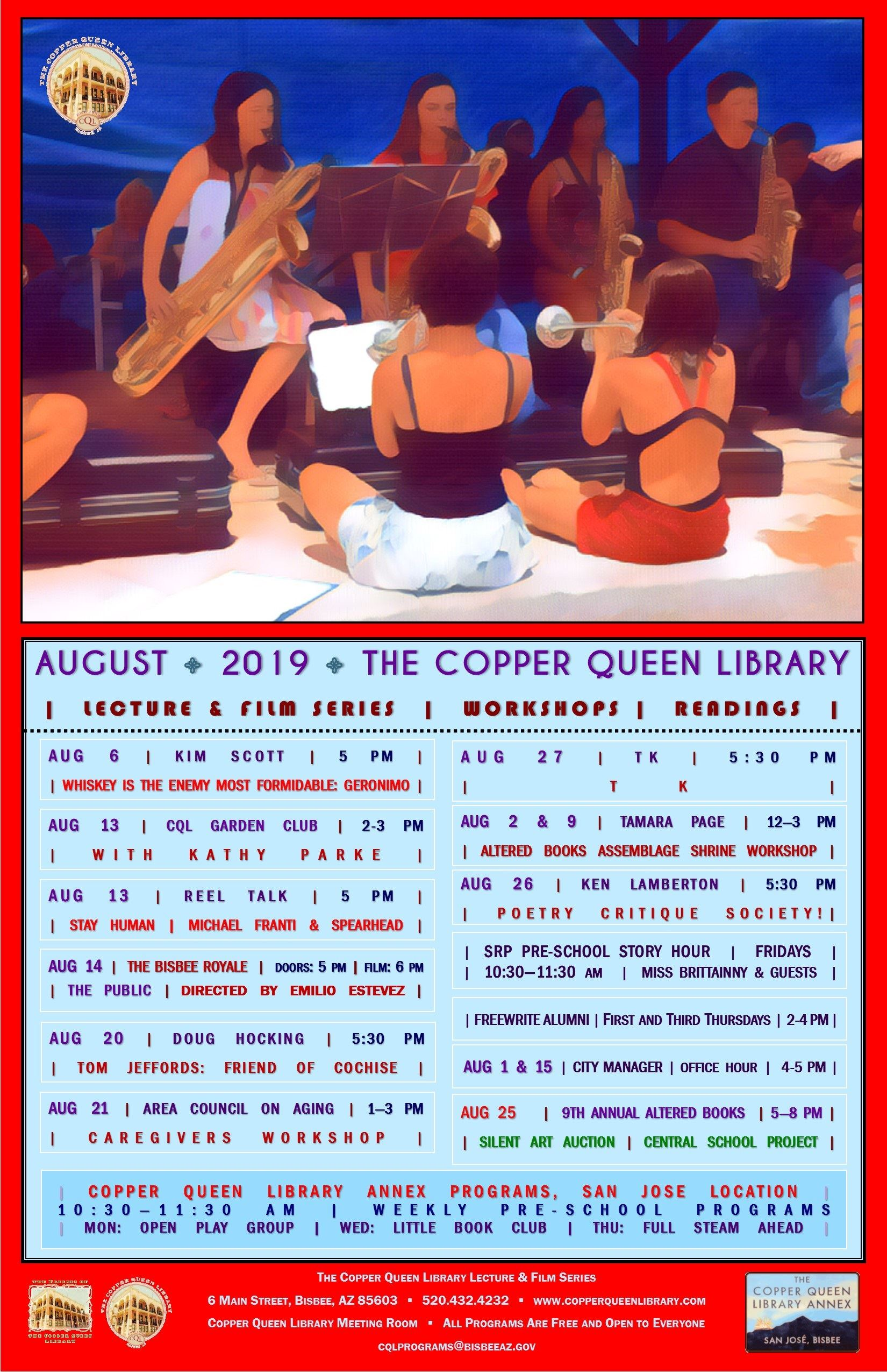 AUGUST 2019 MONTHLY SCHEDULE
