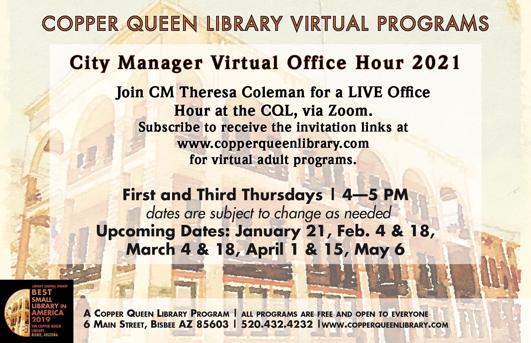 City Manager Office Hour - Virtual