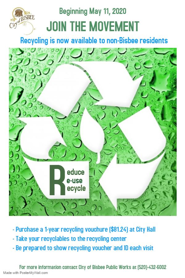 Non-Bisbee Recycling Poster