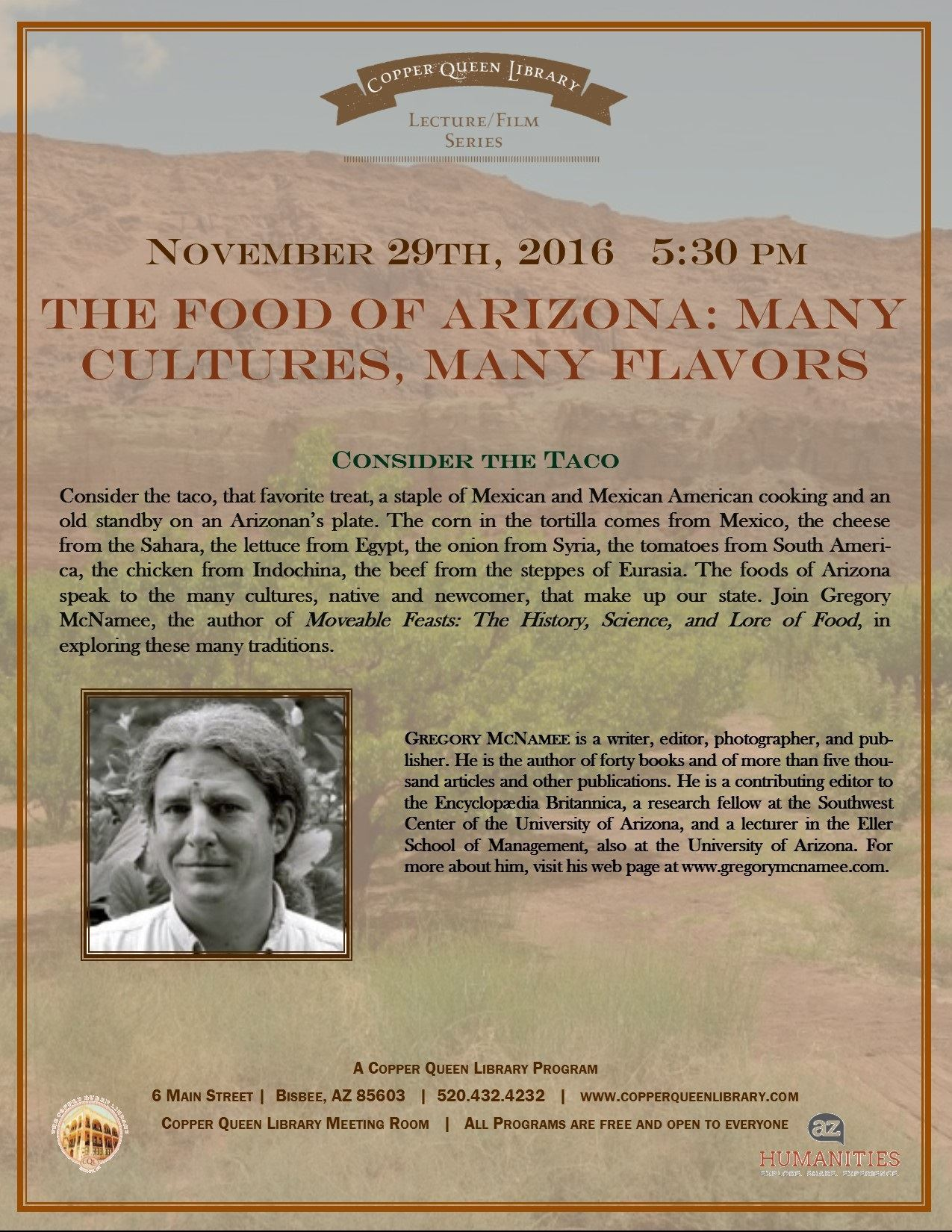 NOV.29.2016 FOODS MCNAMEE HUMANITIES POSTER 8.5x11