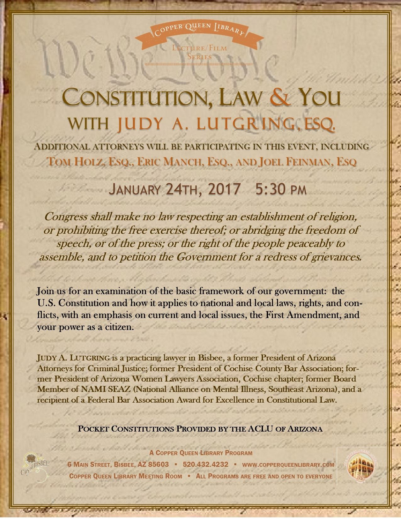 CONSTITUTION AND LAW LUTGRING 1.24.17 POSTER 8.5x11