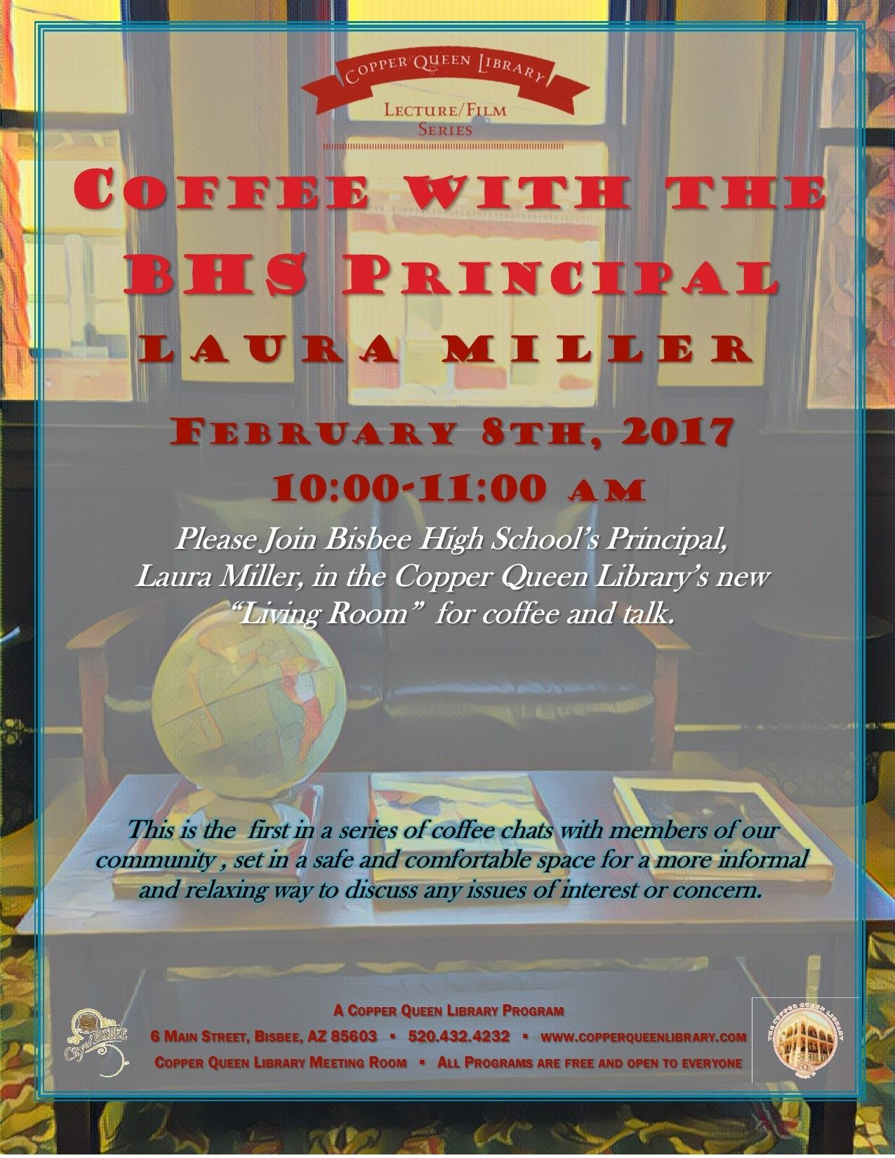 COFFEE WITH PRINCIPAL LAURA MILLER  2.6. 17 POSTER 8.5x11
