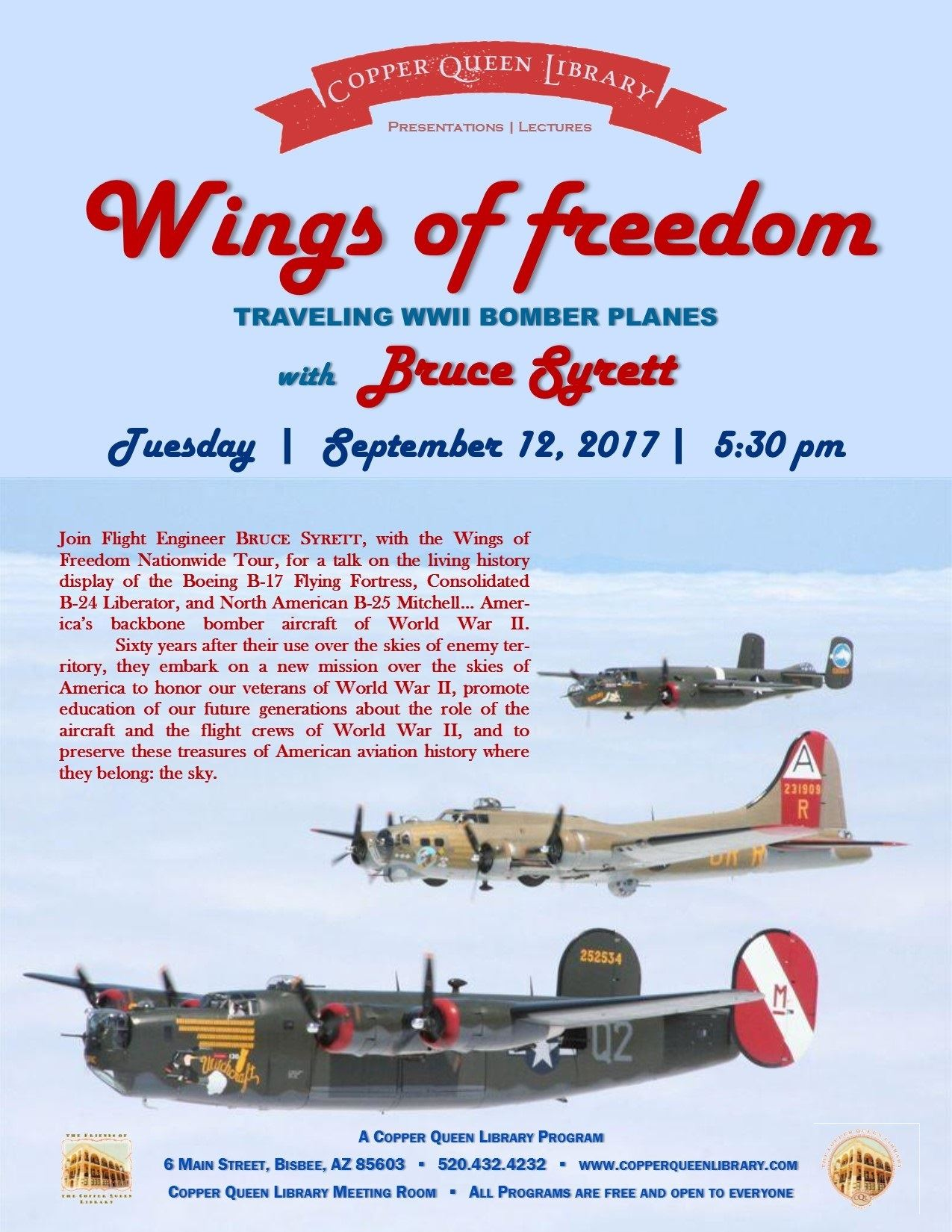 WINGS SYRETT POSTER 9.12.17 8.5 x 11