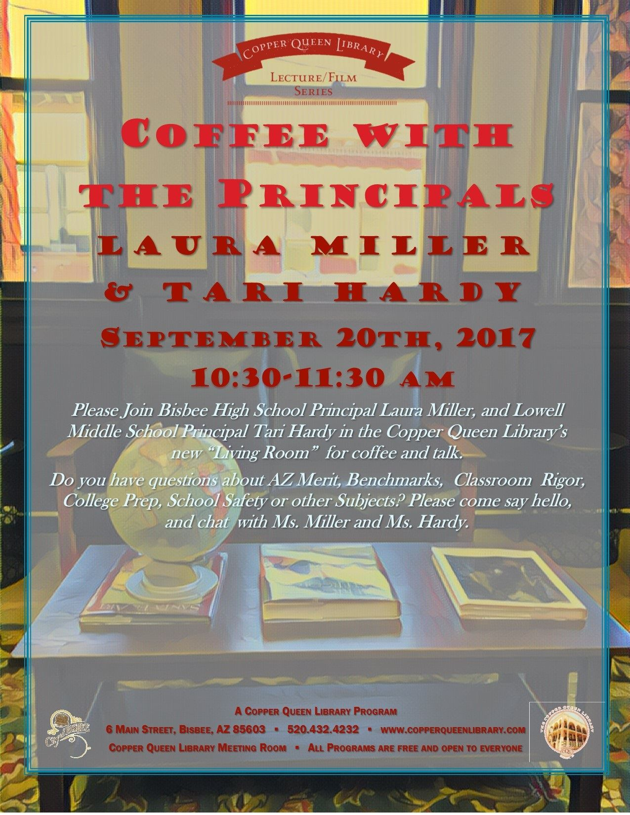 COFFEE WITH PRINCIPAL LAURA MILLER  9.20. 17 POSTER 8.5x11