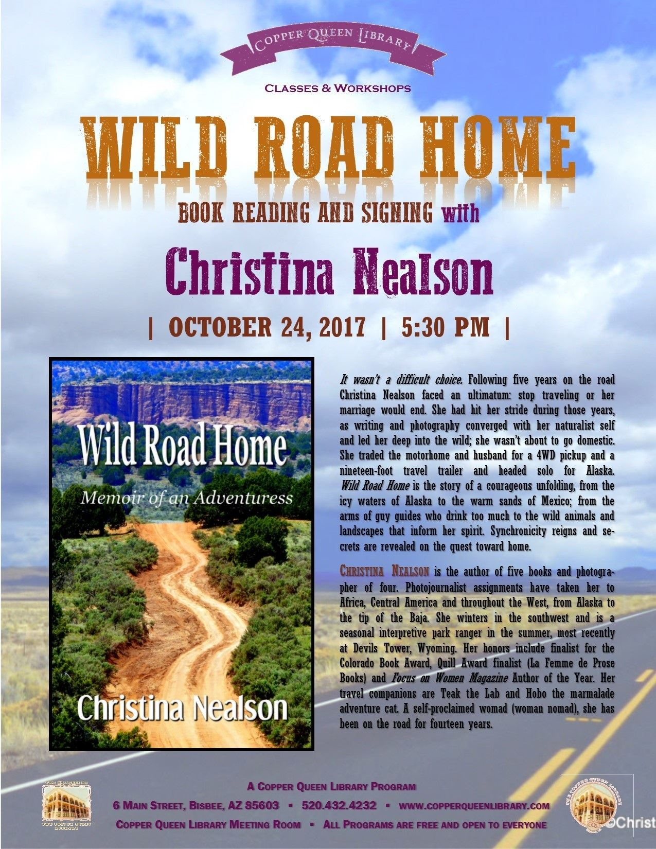 CHRISTINA NEALSON WILD RIDE HOME OCT 2017 8.5 x 11