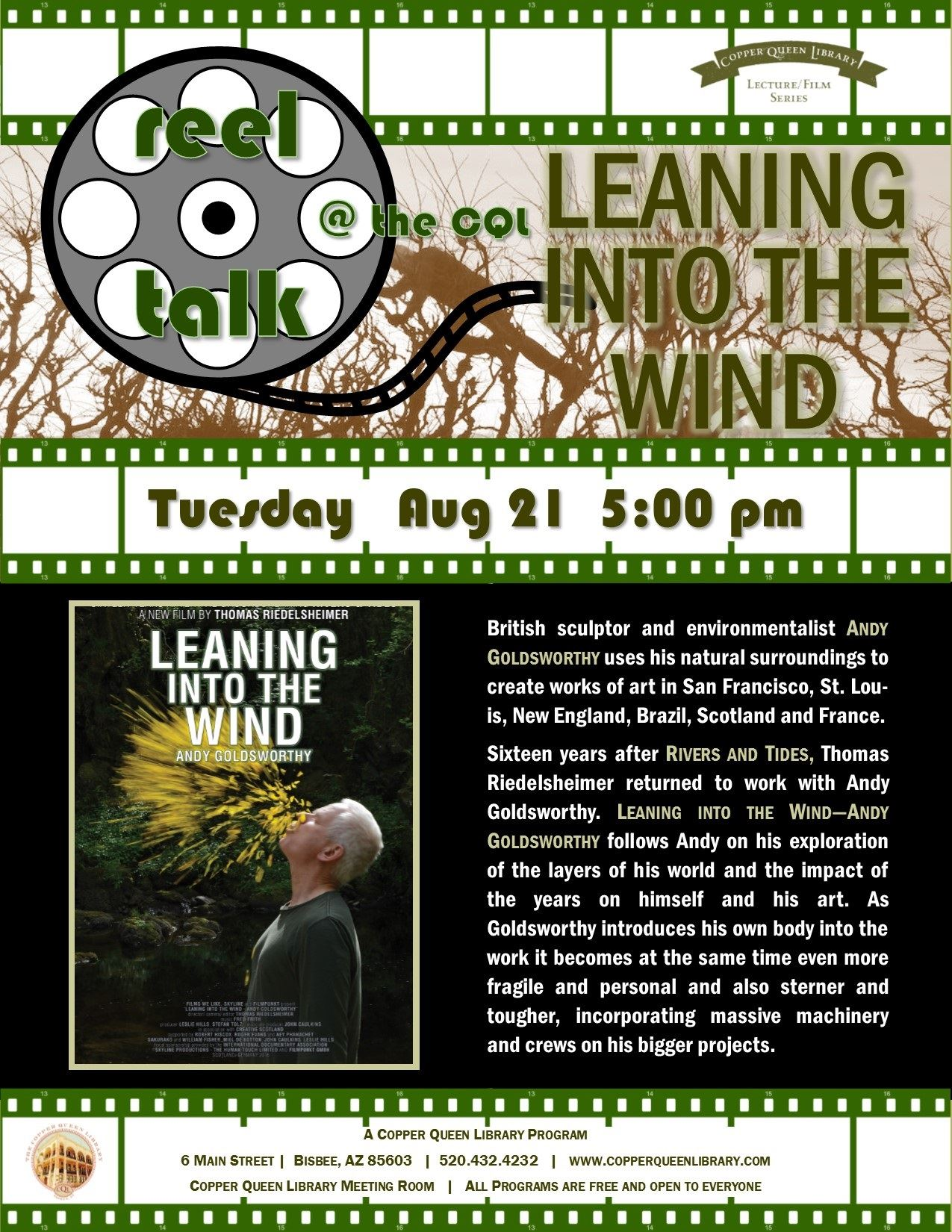 REEL TALK LEANING INTO THE WIND 8.21.18  8.5 X 11
