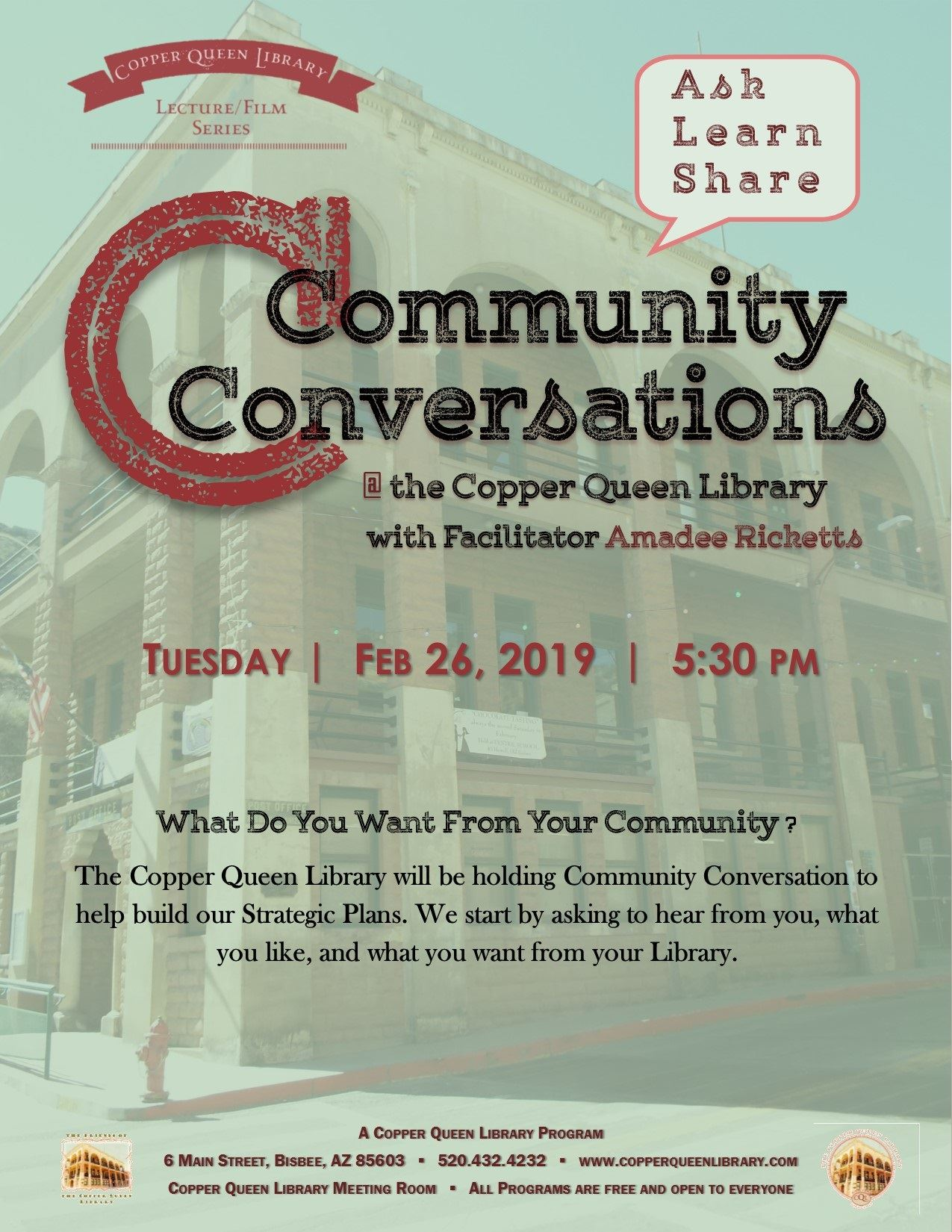 COMMUNITY CONVERSATIONS LIBRARY 2.26.19 8.5 X 11